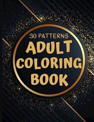 30 Patterns Adult Coloring Book