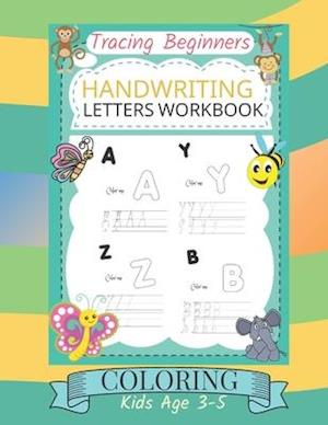 Tracing beginners handwriting letters workbook coloring kids age 3-5