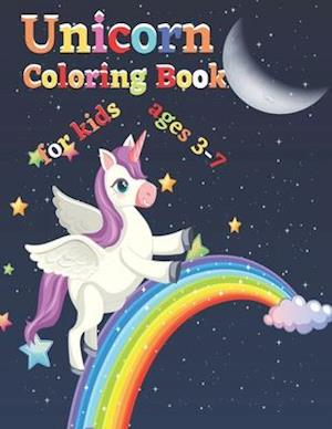 Unicorn Coloring Book for kids ages 3-7: coloring books for kids unicor,girl color books ,unicorn coloring books