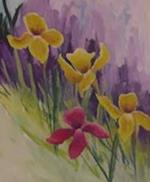 Mal iriser i komplimentærfarver