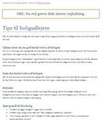Tips til boligudlejere