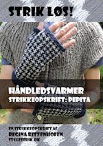 Strik løs! Håndledsvarmer strikkeopskrift: Pepita af Regina Ritzenhofen